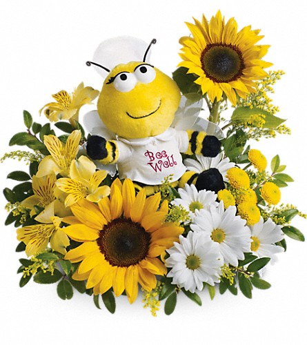 Teleflora's Bee Well Bouquet in Houston TX, Village Greenery & Flowers