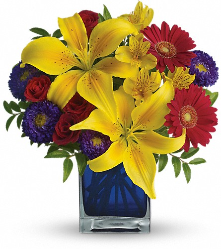 Teleflora's Blue Caribbean in Chapel Hill NC, Floral Expressions and Gifts