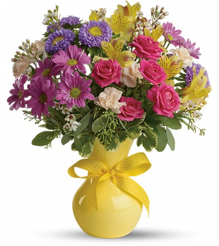 Teleflora's Color It Happy in Royersford PA, Three Peas In A Pod Florist
