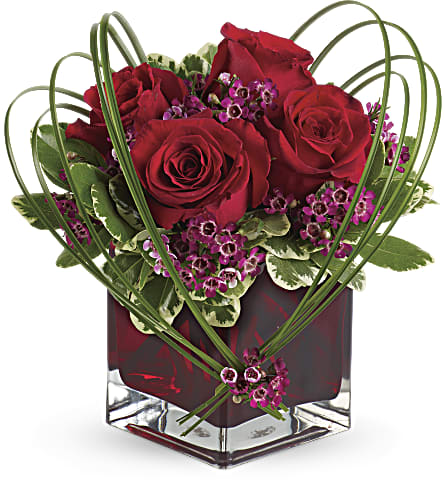 Teleflora's Sweet Thoughts Bouquet with Red Roses in Fremont CA, Kathy's Floral Design