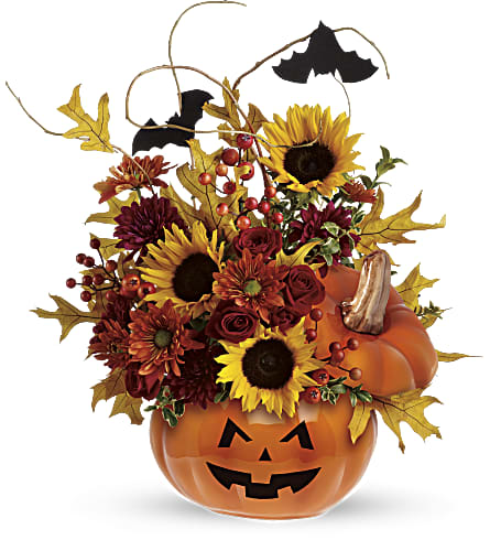 Teleflora's Trick & Treat Bouquet in San Jose CA, Rosies & Posies Downtown