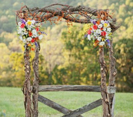 birch and floral arch in knoxville tn the flower pot