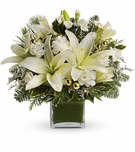 Teleflora's Diamonds & Icicles Bouquet in Fullerton CA, King's Flowers