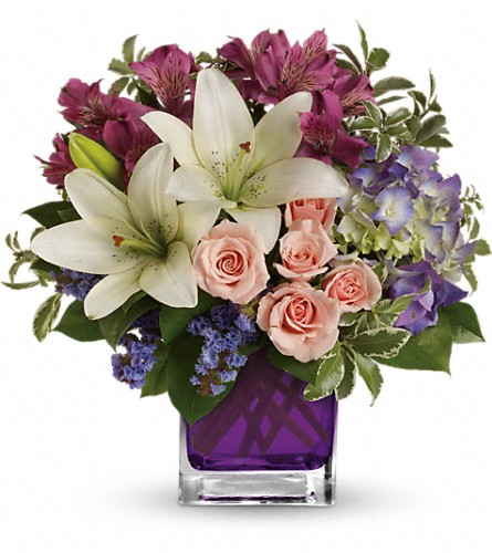 Teleflora's Garden Romance in Farmington CT, Haworth's Flowers & Gifts, LLC.