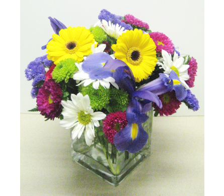 Bright Summer 4x4 Cube - Designed All-Around in Wyoming MI, Wyoming Stuyvesant Floral
