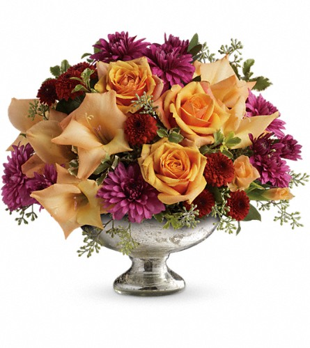Teleflora's Elegant Traditions Centerpiece in Hamilton OH, Gray The Florist, Inc.