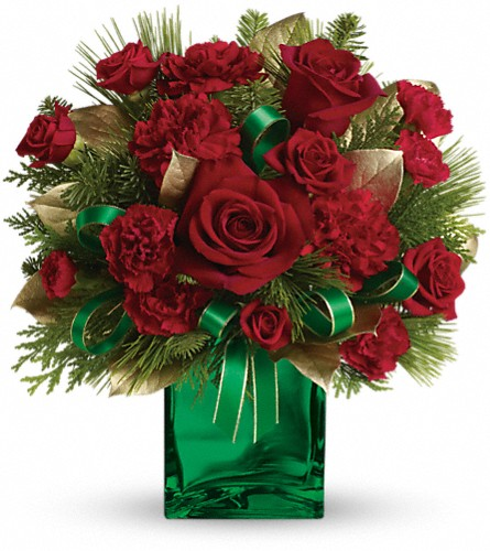 Teleflora's Yuletide Spirit Bouquet in Washington DC, Flowers on Fourteenth