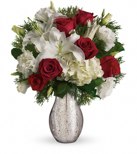 A Christmas Kiss by Teleflora in Exeter PA, Robin Hill Florist