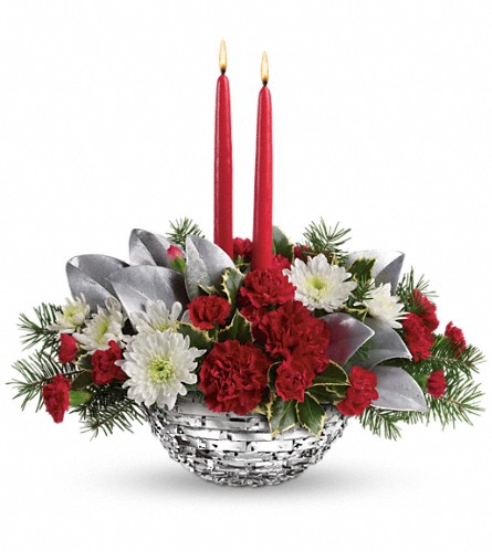 Teleflora's Winter Magic Centerpiece in Oklahoma City OK, Array of Flowers & Gifts