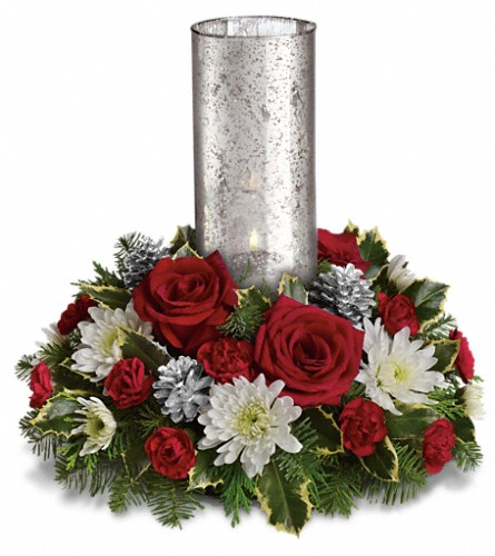 Let s be merry centerpiece by teleflora in waterbury ct