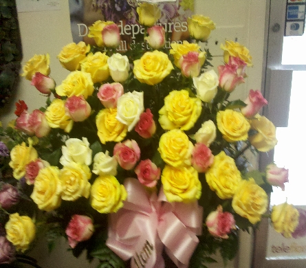 Pastel Rose Tribute in Abington MA, The Hutcheon's Flower Co, Inc.