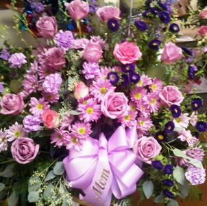 perfectly purple and pink in Abington MA, The Hutcheon's Flower Co, Inc.