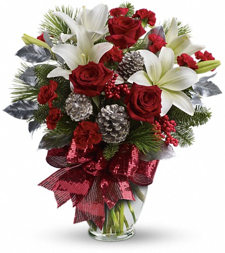 Holiday Enchantment Bouquet in Midland MI, Kutchey's Flowers