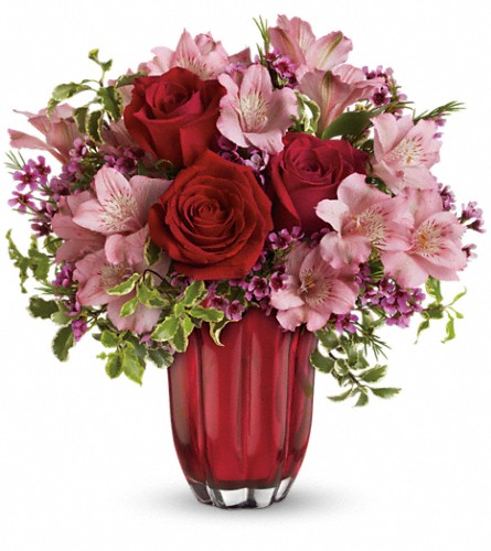 Heart's Treasure Bouquet by Teleflora in Royersford PA, Three Peas In A Pod Florist