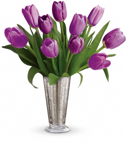 Tantalizing Tulips Bouquet by Teleflora in Woodbridge NJ, Floral Expressions