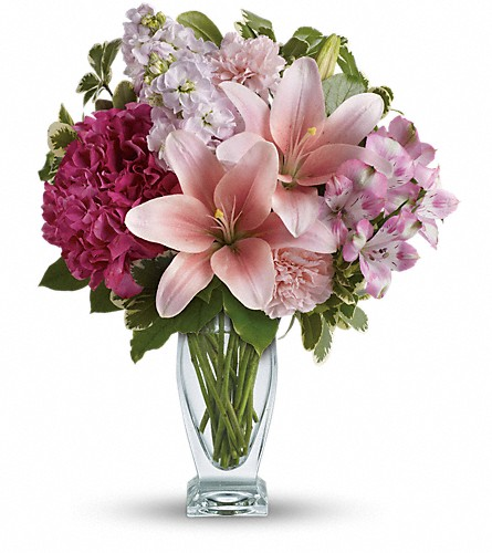 Teleflora's Blush Of Love Bouquet in Bluffton SC, Old Bluffton Flowers And Gifts