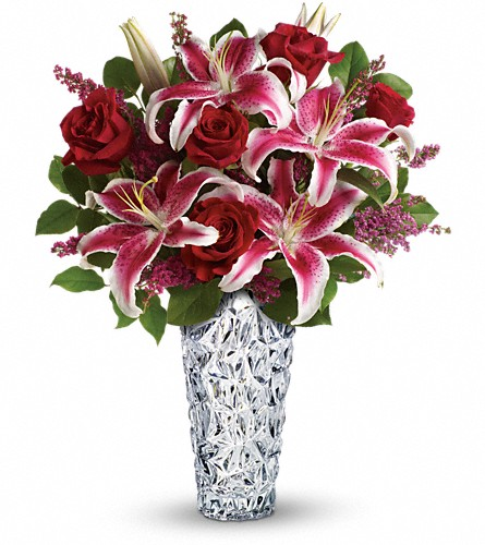 Teleflora's Diamonds And Lilies Bouquet in Tampa FL, Moates Florist