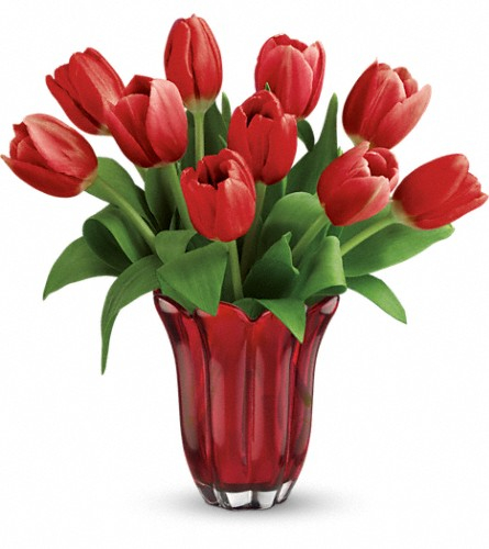 Teleflora's Kissed By Tulips Bouquet in Kansas City KS, Michael's Heritage Florist