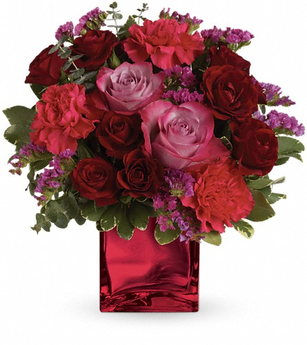 Teleflora's Ruby Rapture Bouquet in Oklahoma City OK, Array of Flowers & Gifts