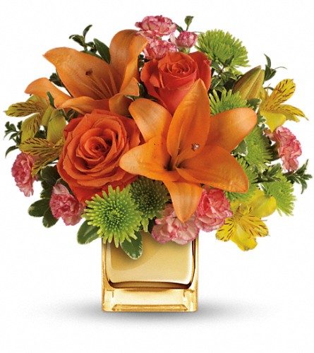 Teleflora's Tropical Punch Bouquet in Plano TX, Petals, A Florist