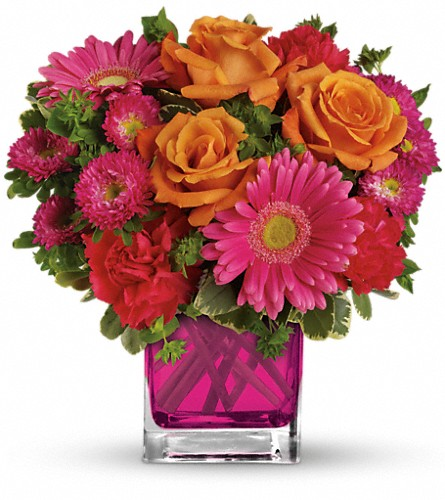 Teleflora's Turn Up The Pink Bouquet in Royersford PA, Three Peas In A Pod Florist