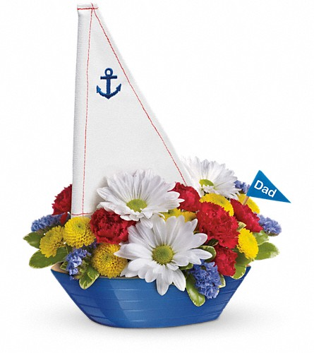 Teleflora's Anchors Aweigh Bouquet in Royersford PA, Three Peas In A Pod Florist