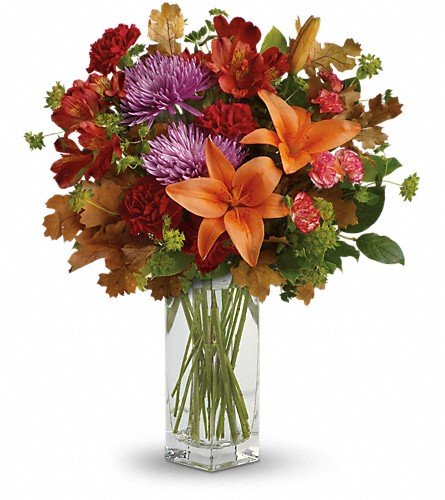 Teleflora's Fall Brights Bouquet in DeKalb IL, Glidden Campus Florist & Greenhouse