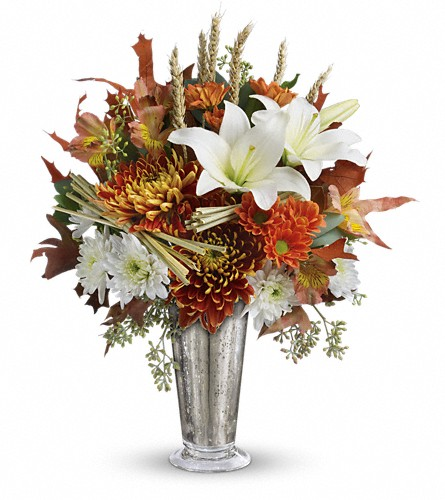 Teleflora's Harvest Splendor Bouquet in Royersford PA, Three Peas In A Pod Florist