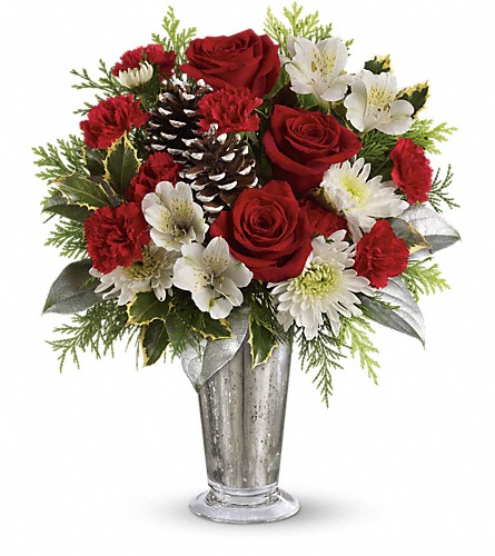 Teleflora's Timeless Cheer Bouquet in Kent OH, Richards Flower Shop