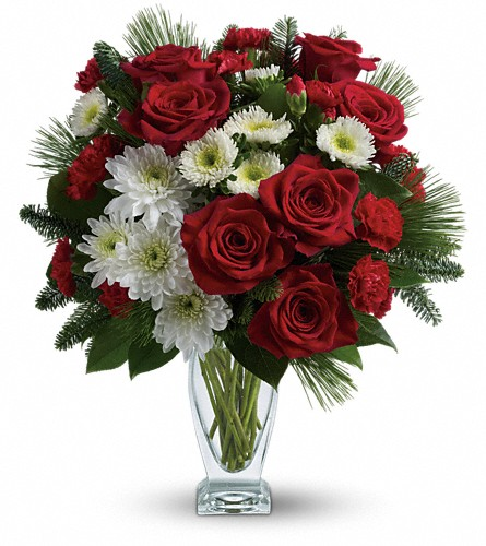 Teleflora's Winter Kisses Bouquet in Campbell CA, Bloomers Flowers