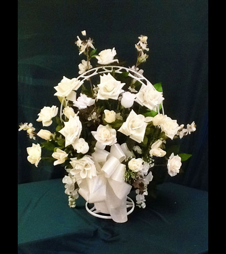 Pensacola FL Florist - Home> Silk Funeral Basket - Small. View Larger