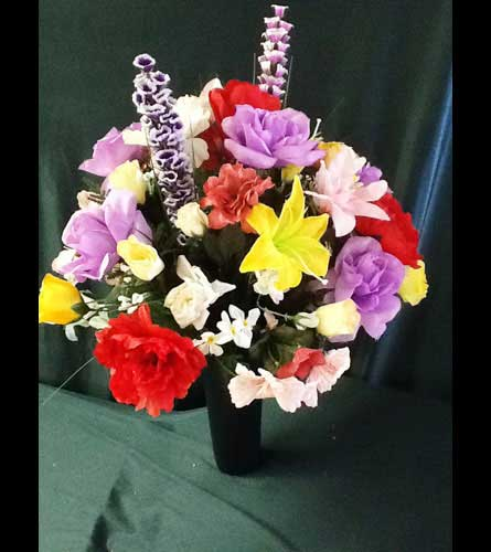 Pensacola FL Florist - Home> Graveside Poke Down - Silk Arrangement - Medium. View Larger