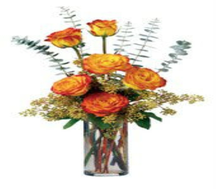 Fall Rose Bouquet in Big Rapids MI, Patterson's Flowers, Inc.