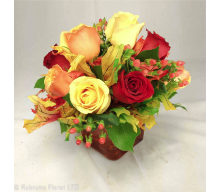 AUTUMN ROSE CONTEMPO by Rubrums in Ossining NY, Rubrums Florist Ltd.