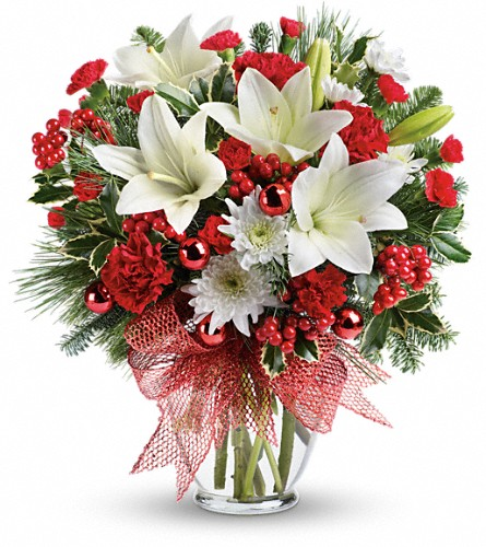 Merry All The Way Bouquet in Bakersfield CA, White Oaks Florist