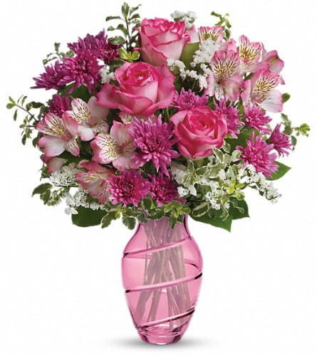Teleflora's Pink Bliss Bouquet in Oklahoma City OK, Array of Flowers & Gifts