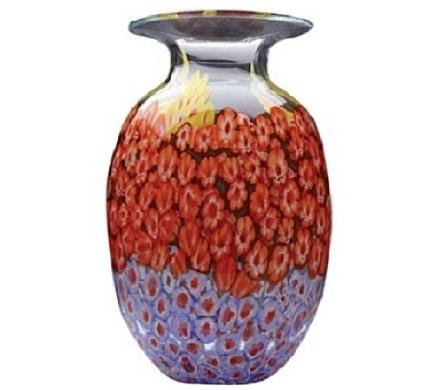 Millefiori Vase In Casper Wy Keefes Flowers