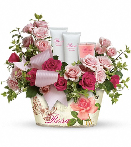 Teleflora's Everything Rosy Gift Bouquet in Oklahoma City OK, Array of Flowers & Gifts