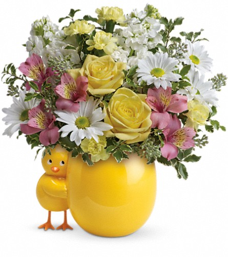 Teleflora's Sweet Peep Bouquet - Baby Pink in Trail BC, Ye Olde Flower Shoppe