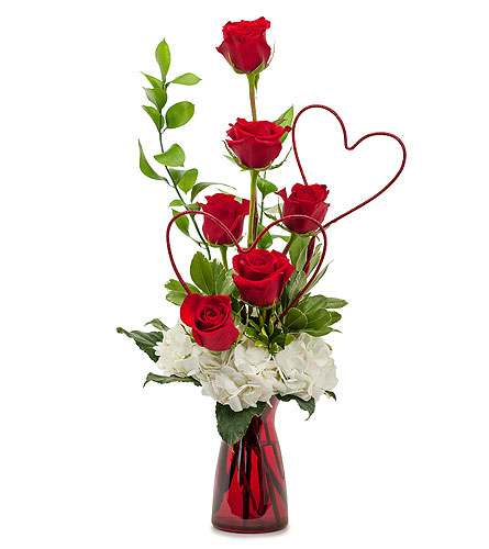 Two Hearts on Fire in Spartanburg SC, A-Arrangement Florist
