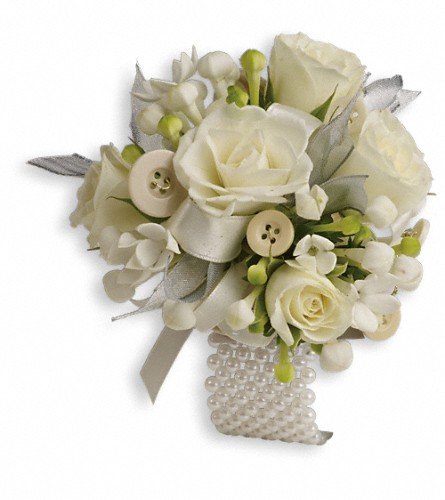 All Buttoned Up Corsage in Sayville NY, Sayville Flowers Inc
