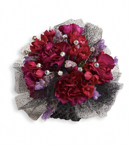 Red Carpet Romance Corsage in Bakersfield CA, White Oaks Florist