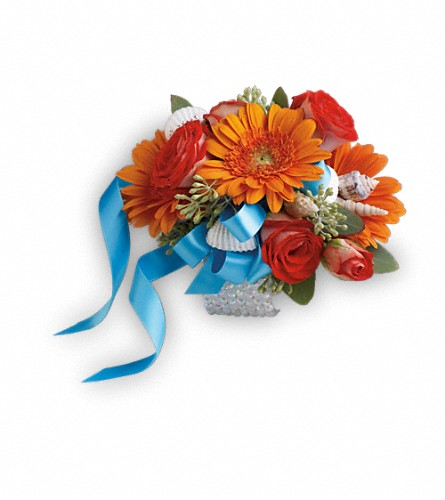Sunset Magic Corsage in Woodbridge NJ, Floral Expressions