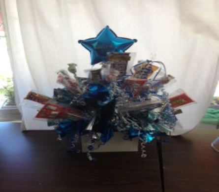 graduation candy bouquet in Abington MA, The Hutcheon's Flower Co, Inc.