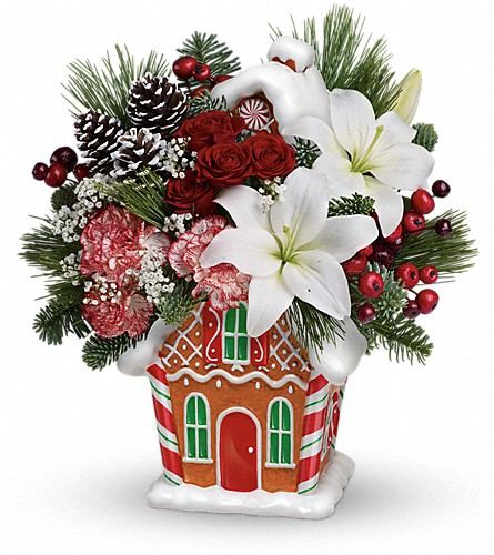 Teleflora's Candy Cottage Bouquet in Oklahoma City OK, Array of Flowers & Gifts