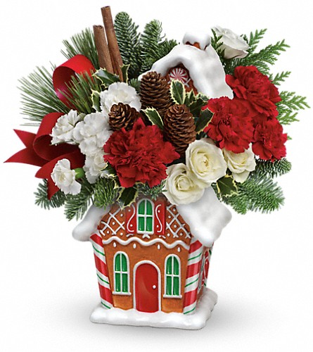 Teleflora's Gingerbread Cookie Jar Bouquet in Alexandria MN, Anderson Florist & Greenhouse