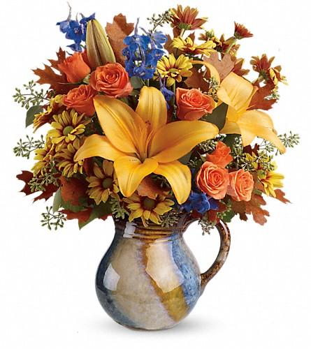 Fall flowers delivery winston salem nc sherwood flower shop inc telefloras harvest fields bouquet mightylinksfo
