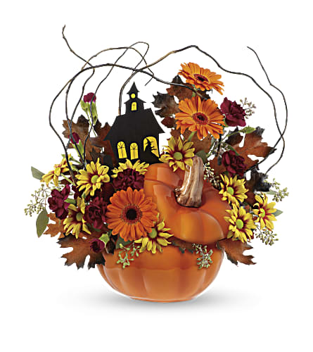 Teleflora's Haunted House Bouquet in Liverpool NY, Creative Florist