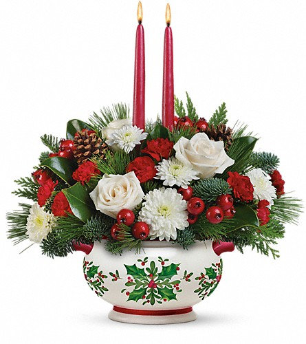 Teleflora's Holly Days Centerpiece in Orangeville ON, Parsons' Florist