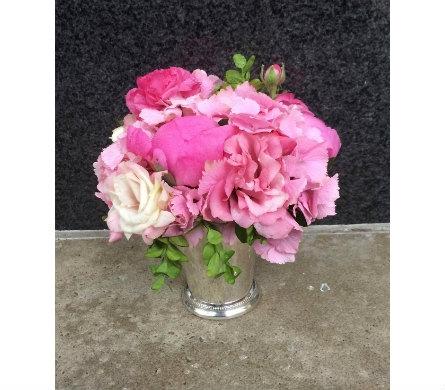 Pink lemonade in julep cup in bellevue wa city flowers inc view larger pink lemonade mightylinksfo